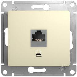 Розетка компьютерная RJ45 Glossa кат. 5e (бежевый) GSL000281K
