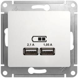 Розетка USB Glossa (белый) GSL000133