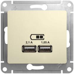 Розетка USB Glossa (бежевый) GSL000233