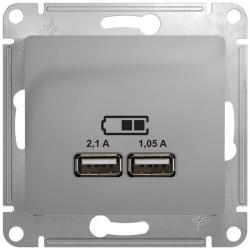 Розетка USB Glossa (алюминий) GSL000333