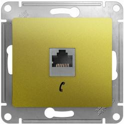 Телефонная розетка Glossa (фисташоковый) GSL001081T