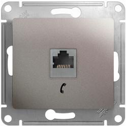 Телефонная розетка Glossa (платина) GSL001281T