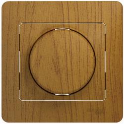 Светорегулятор LED 630Вт Glossa в сборе с рамкой (дерево дуб) GSL000537