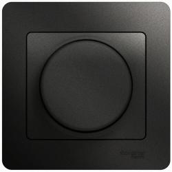 Светорегулятор LED 630Вт Glossa в сборе с рамкой (антрацит) GSL000737