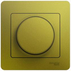 Светорегулятор LED 630Вт Glossa в сборе с рамкой (фисташоковый) GSL001037