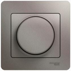 Светорегулятор LED 630Вт Glossa в сборе с рамкой (платина) GSL001237