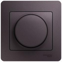Светорегулятор LED 630Вт Glossa в сборе с рамкой (сиреневый туман) GSL001437
