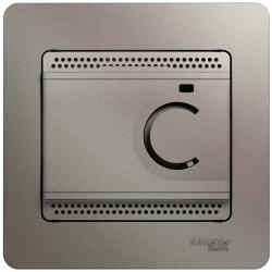 Термостат Glossa электронный 10А (платина) GSL001238