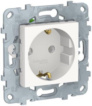 Розетка Unica New с заземлением с быстрозажимными клеммами (белый) NU505618