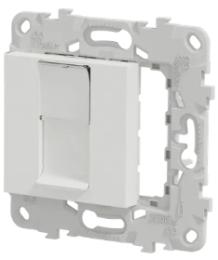 Лицевая панель Unica New RJ45 KEYSTONE/SYSTIMAX (белый) NU546118