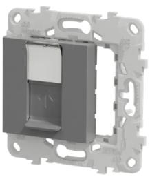 Лицевая панель Unica New RJ45 KEYSTONE/SYSTIMAX (алюминий) NU546130