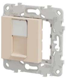 Лицевая панель Unica New RJ45 KEYSTONE/SYSTIMAX (бежевый) NU546144