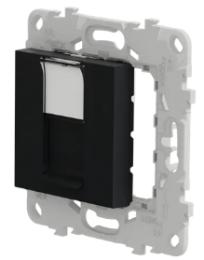 Лицевая панель Unica New RJ45 KEYSTONE/SYSTIMAX (антрацит) NU546154