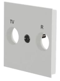 Лицевая панель TV/FM розетки Unica New (белый) NU944018