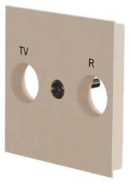 Лицевая панель TV/FM розетки Unica New (бежевый) NU944044