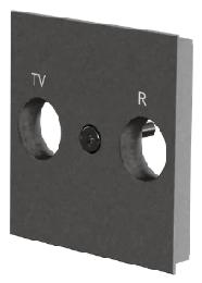 Лицевая панель TV/FM розетки Unica New (алюминий) NU944030