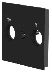 Лицевая панель TV/FM розетки Unica New (антрацит) NU944054