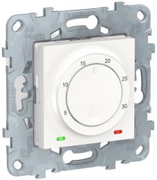 Термостат Unica New электронный 8А, встроенный термодатчик (белый) NU550118