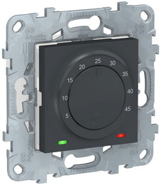 Термостат для теплого пола Unica New 10А (антрацит) NU550354
