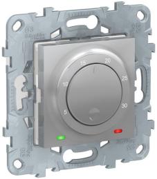 Термостат Unica New электронный 8А, встроенный термодатчик (алюминий) NU550130