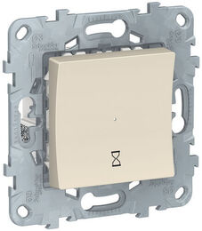 Таймер нажимной Unica New (бежевый) NU553544