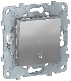 Таймер нажимной Unica New (алюминий) NU553530