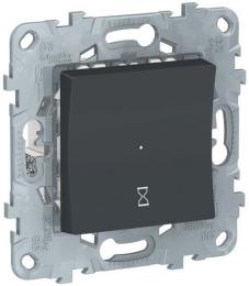 Таймер нажимной Unica New (антрацит) NU553554