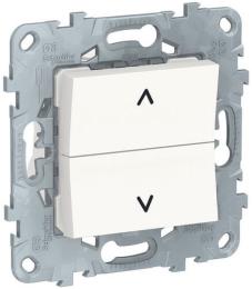 Кнопка-выключатель для рольставней Unica New (белый) NU520718