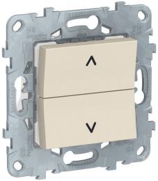 Кнопка-выключатель для рольставней Unica New (бежевый) NU520744