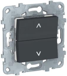 Кнопка-выключатель для рольставней Unica New (антрацит) NU520754
