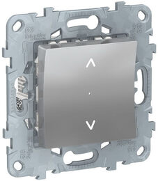 Кнопка-выключатель для рольставней Unica New (алюминий) NU520730
