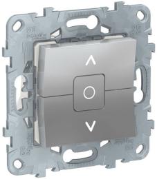 Выключатель для рольставней Unica New (алюминий) NU520830