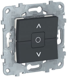 Выключатель для рольставней Unica New (антрацит) NU520854