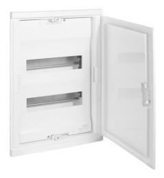 Шкаф Legrand Nedbox в нишу на 24(28) модулей с шинами (белая дверь) 01412