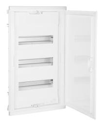 Шкаф Legrand Nedbox в нишу на 36(42) модулей с шинами (белая дверь) 01413