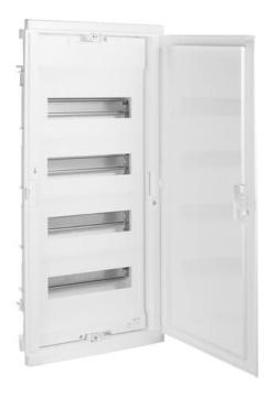 Шкаф Legrand Nedbox в нишу на 48(54) модулей с шинами (белая дверь) 01414