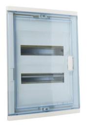 Шкаф Legrand Nedbox в нишу на 24(28) модулей с шинами (прозрачная дверь) 01422