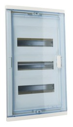Шкаф Legrand Nedbox в нишу на 36(42) модулей с шинами (прозрачная дверь) 01423