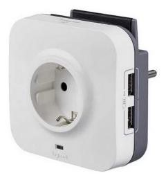 Розеточный блок с УЗИП, c двумя USB разъемами 694671