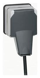 Розетка с крышкой Plexo в сборе (IP66 при вставленной вилке) 090465