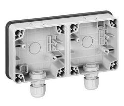 Двухместная монтажная коробка, Plexo горизонтальная установка 090493