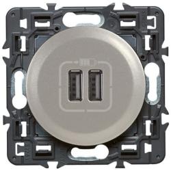 Розетка USB Сeliane тип A/тип A (титан) 067462+068556+080251