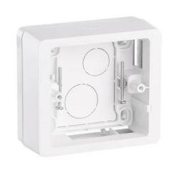 Коробка одноместная для накладного монтажа Сeliane (белая)