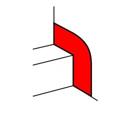 Накладка на стык со стеной для кабель-каналов шириной от 195 до 220 мм 010699