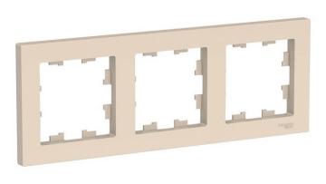Рамка AtlasDesign трехместная (бежевый) ATN000203