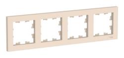 Рамка AtlasDesign четырехместная (бежевый) ATN000204