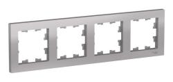 Рамка AtlasDesign четырехместная (алюминий) ATN000304