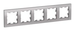Рамка AtlasDesign пятиместная (алюминий) ATN000305
