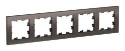 Рамка AtlasDesign пятиместная (мокко) ATN000605