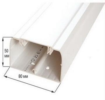 Кабельный канал DLP 50х80 с крышкой 65мм 010419
